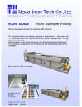 Squeegee Washer for Rotary Screens